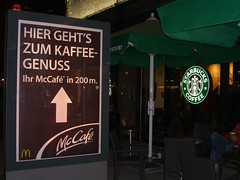 McCaf vs. Starbucks (brennSL) Tags: coffee caf dresden cafe mac strasse kaffee galerie mc starbucks centrum donalds prager centrumgalerie