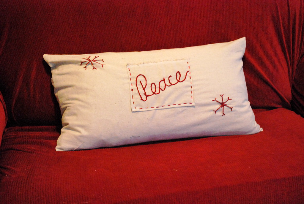 Knock off Pottery Barn holiday pillows NewlyWoodwards
