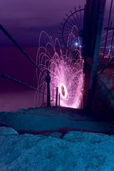Tynemouth north pier (- Hob -) Tags: blue raw purple nophotoshop tynemouth icefire customwhitebalance sooc lightjunkies woolflinging slippysteps scaryspikyfence ifpurplish 何後処理ん 无后处理