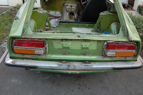 an almost entirely rust free rear end
