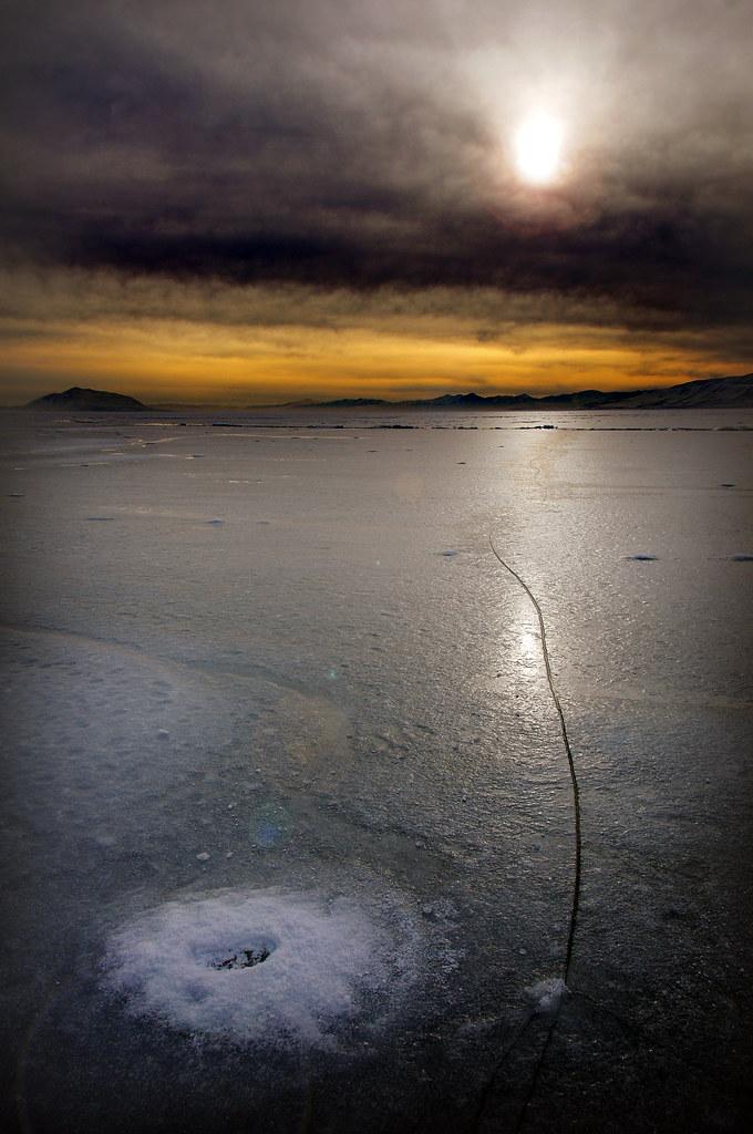 Ice utah lake formation black balance vignette