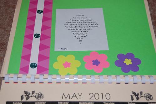 Adam's calendar gift - May