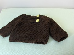 Brown baby sweater (ruali) Tags: winter boy baby brown cute girl yellow cozy sweater warm handmade crochet yarn etsy ruali