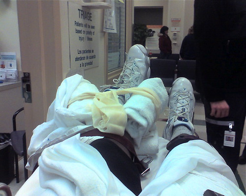 Sitting in the Triage with my Unique Foot