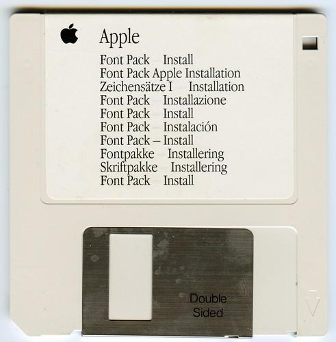 Apple font pack disk from the mid 90s