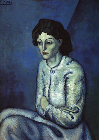 sad woman picasso