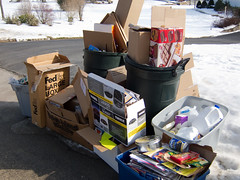 Taking Out The Trash (CC Chapman) Tags: trash garbage suburbia boxes recycling