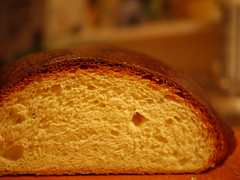 Portuguese Sweet Bread - Crust and crumb