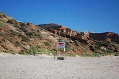 Unclad Bathing Area on Beach Only - sign - Maslin Beach (avlxyz) Tags: sea beach sign sand southaustralia maslin unclad maslinbeach
