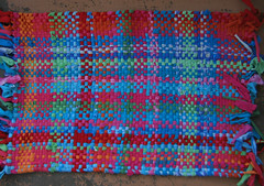 Handwoven Recycled T-Shirt Rag Rug (fiveforty) Tags: handwoven ragrug recycledtshirts fiveforty tshirtrug
