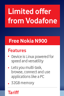 Vodafone N900 Features