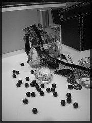 Eu de Broken, 5. (zombiance) Tags: classic broken vintage necklace cologne card joker