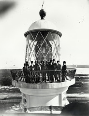 Macquarie Lighthouse, Sydney (State Records NSW) Tags: people blackandwhite lighthouse francis james sydney archives newsouthwales barnet greenway tophats macquarielighthouse jamesbarnet staterecordsnsw