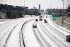 Driving in a winter wonderland (jgreghenderson) Tags: city travel winter white snow cars ice weather rock nikon greg traffic little january arkansas interstate henderson 630 d90 i630