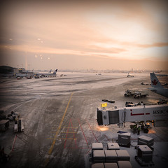 Launching myself back to Europe (prcralexandra) Tags: snow canada ice airport delay snowstorm platform toroto timepassingby