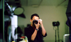 fun in studio (DoveVadar) Tags: leica film canon lens 50mm dream mp f095 portra800vc