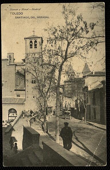 Iglesia de Santiago del Arrabal hacia 1900. Foto Hauser y Menet
