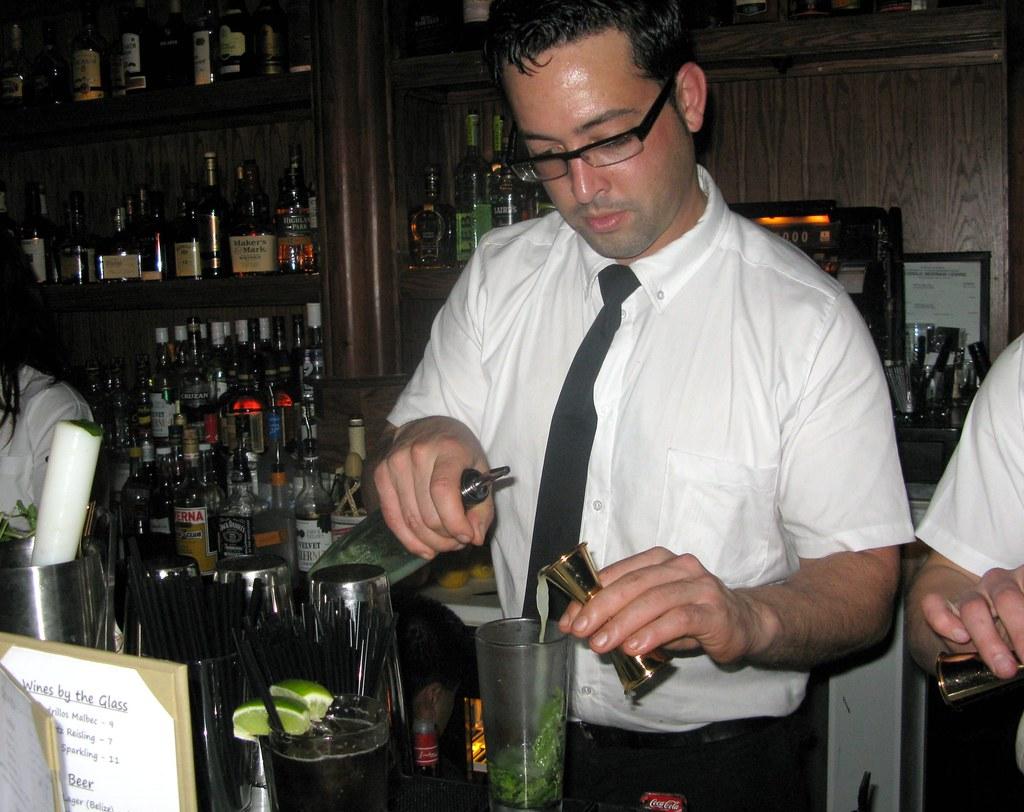 Pablo Moix making a cocktail by Caroline on Crack