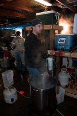 Drew working his kettle