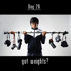 Day 28: got weights? (L S G) Tags: portrait 365 weight pinoy seamless d3 barbell filmslr project365 365days d80 strobist 365daysproject 365daysvv