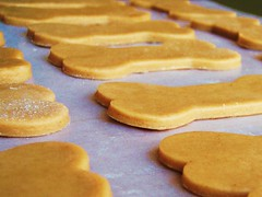 peanut butter dog treats in dog biscuit shapes - 11