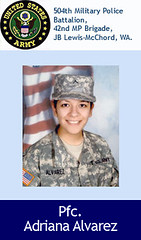 Pfc. Adriana Alvarez (USFallenorg) Tags: usa afghanistan dead army freedom us war military iraq american fallen afghan hero soldiers tribute february coalition operation enduring troops recent nato veterans died 2010 casualties