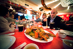 Gung Hei Fat Choi! (TGKW) Tags: new portrait people food man feast dinner table paul cuisine restaurant chinatown eating glasgow year chinese plate celebration chandelier chopsticks lobster noodles banquet 9898