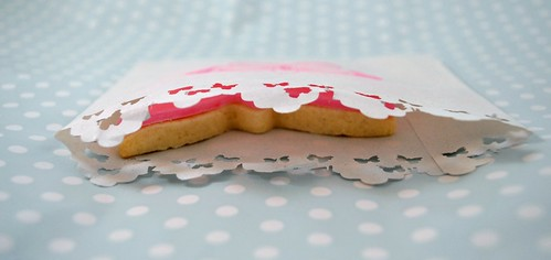 Pink butterfly cookie