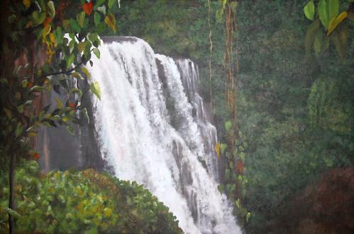 Pulhapanzak Falls in Hondarus