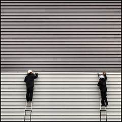 Dos en rayas. Two on stripes