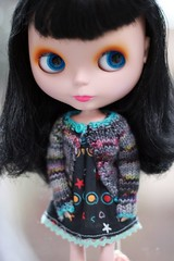 Thanks Ana! (TachaDoll - - - Gone) Tags: sweater dress blythe knitted goldie sugaroni morganannie