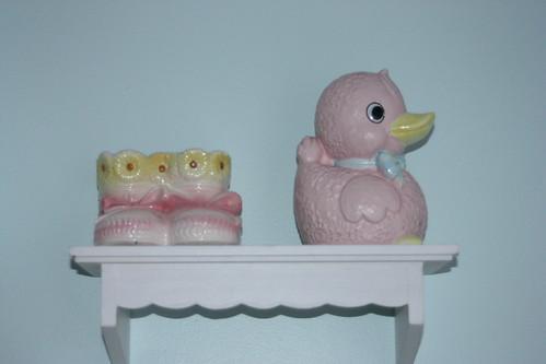 Vintage Duck & Bootie Planters