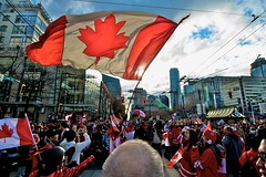 Huge Canadian Flag at Howe and Robson