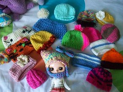 May's hat collection (Mooy) Tags: colorful crochet may hats collection blythe knitted sta