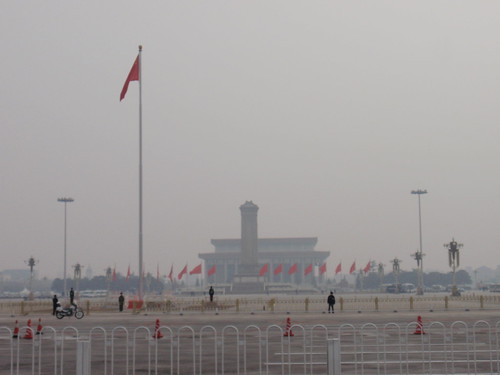Tian'anmen Square, empty due to the start of CPPCC