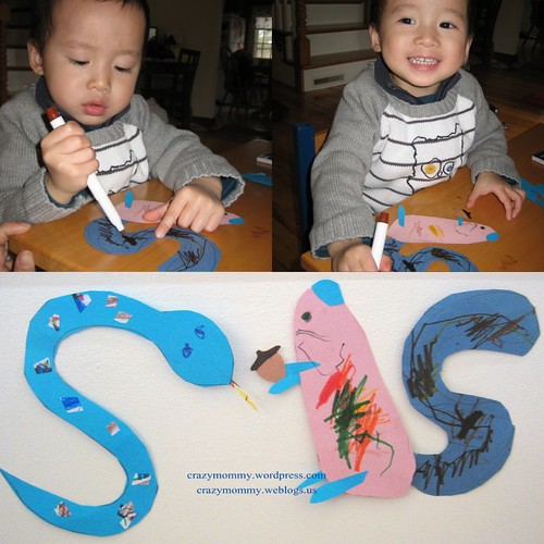 Alphabets craft activities - S
