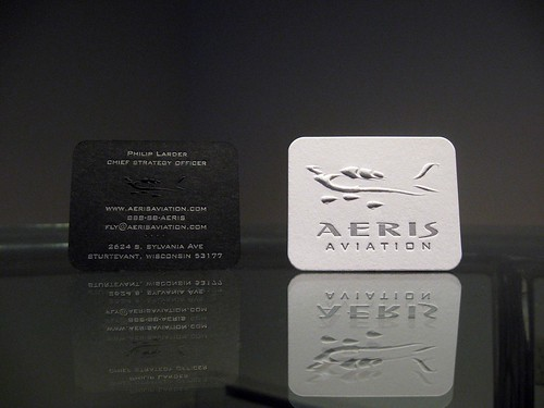 Aeris aviation business cards dolce press aeris aviation embossed front back colourmoves