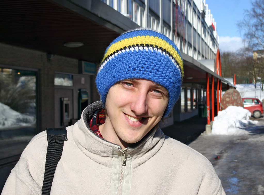 The infamous Swedish Olympic hat!