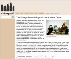 Chicagoist Press about Vintage Bazaar & STUDY