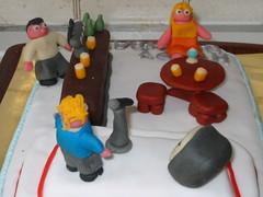 Pub Singer cake (Micky Straathof) Tags: marzipan sugarpaste noveltyspongecake