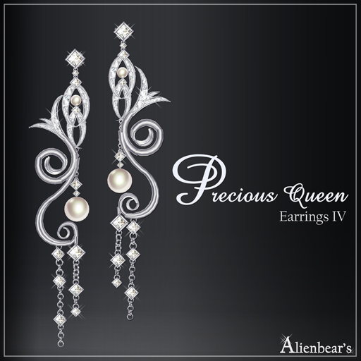 Precious Queen Earrings IV white
