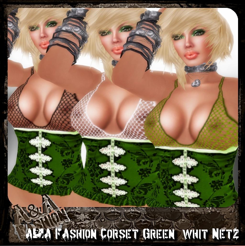 A&A FAshion Corset whit Netz green