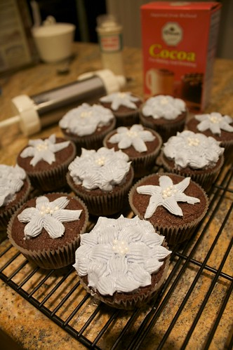 Dutch Processed Cocoa Cupcakes