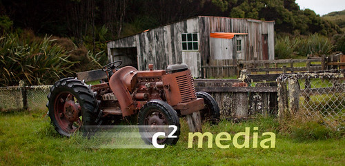 Woolshed and Tractor