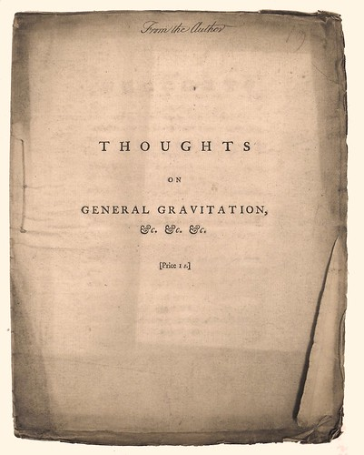First Page of Wilson's 'Thoughts on General Gravitation...'