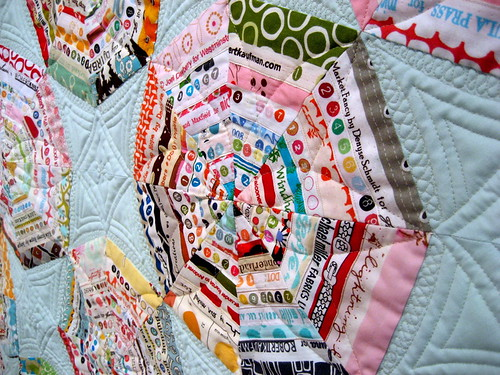 jacquie's selvage string quilt