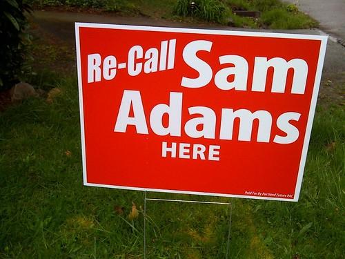 Recall Sam Adams