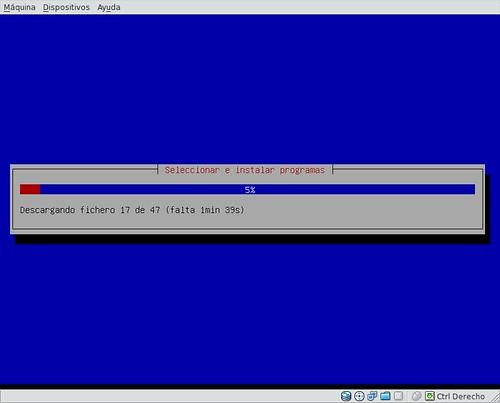 Seleccionar e instalar programas.