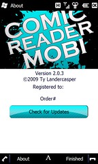 ComicReader mobi 2.0.3 About