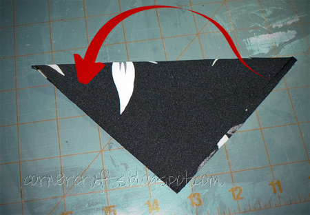 flower petal big hair clip fabric square fold triangle